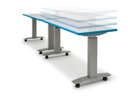 height adjustable sit stand table