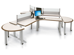 adjustable height sit stand desk table