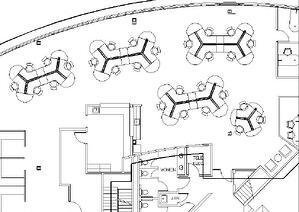 dogbone cubicle layout