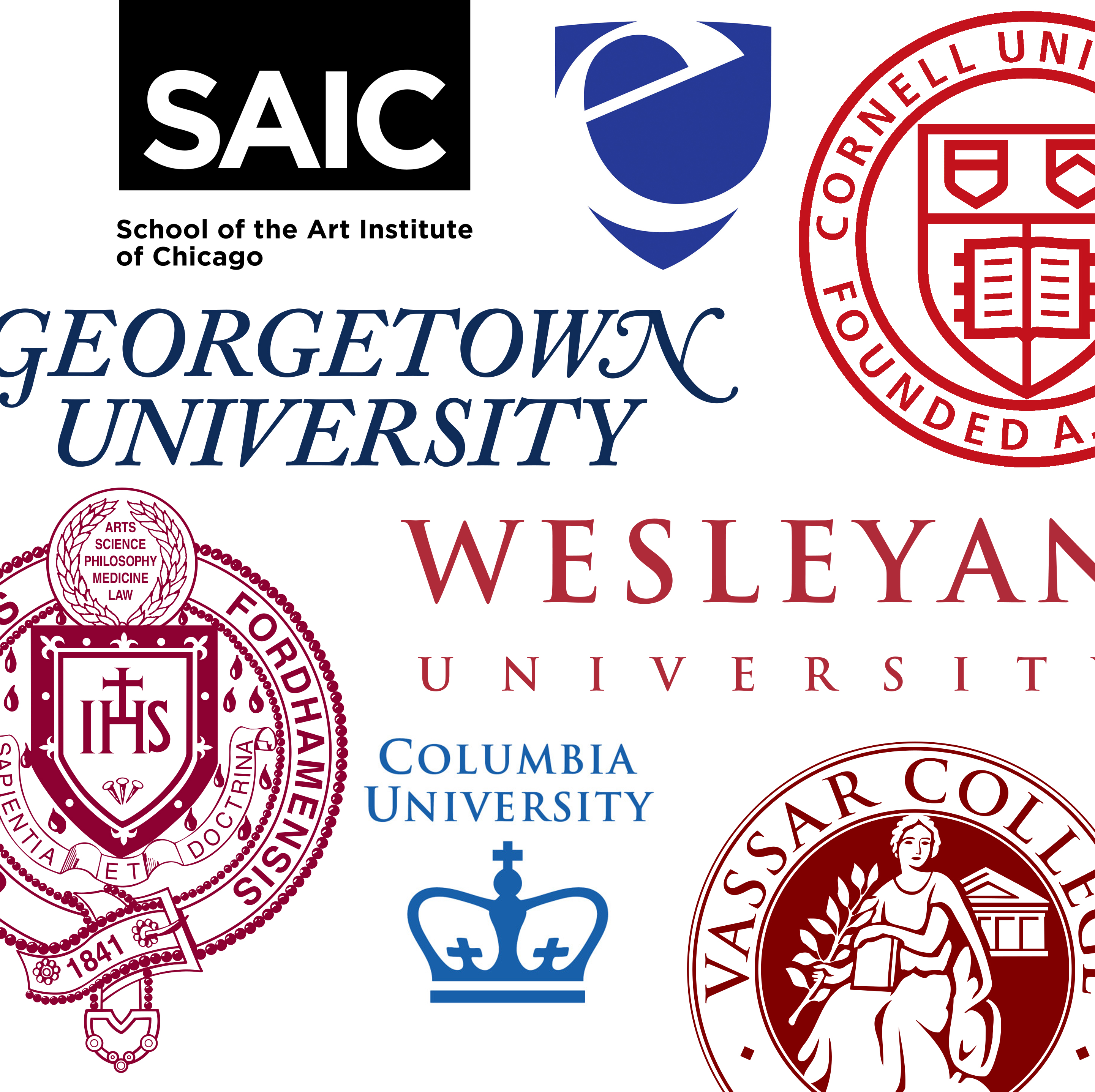college logos collage