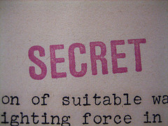 Stamp of word secret for confidential business information