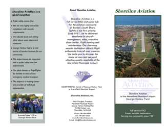 Shoreline Aviation capabilities brochure