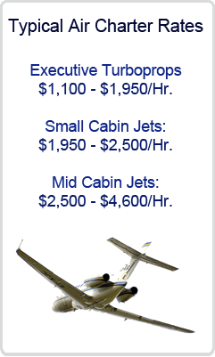 Typical Private Air Charter Rates