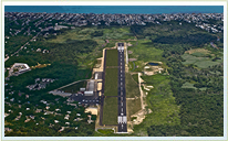 Private Air Charter and Aviation Services GHG Runway and Airport Aerial View