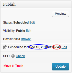 WordPress Post Scheduling