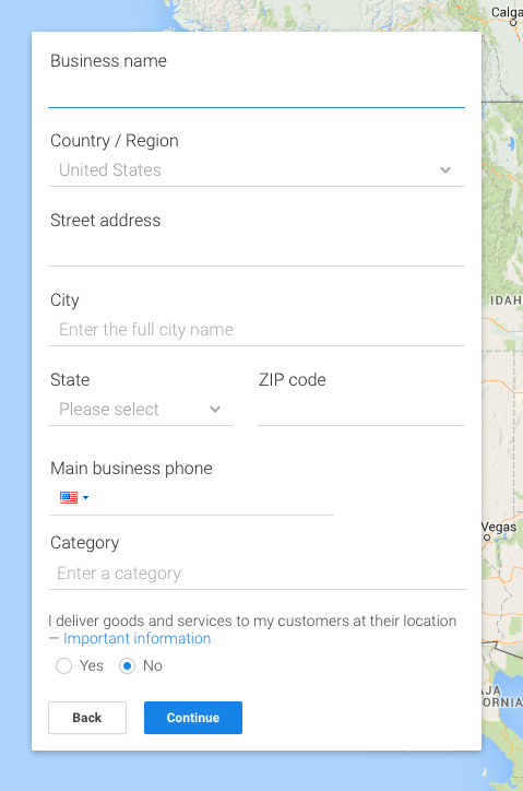 Add your business into Google My Business