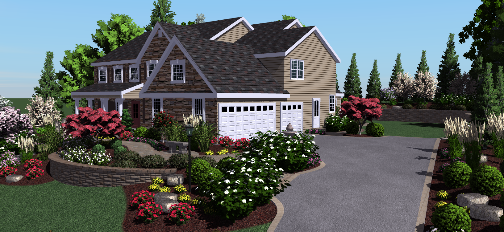 Visionscape takes professional 3d landscape design for Professional landscape design