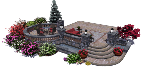 Visionscape takes professional 3d landscape design for 3d garden design