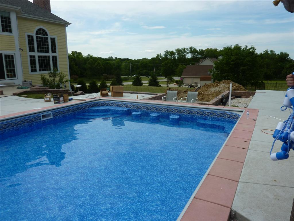 Custom pool steps for Custom inground pools
