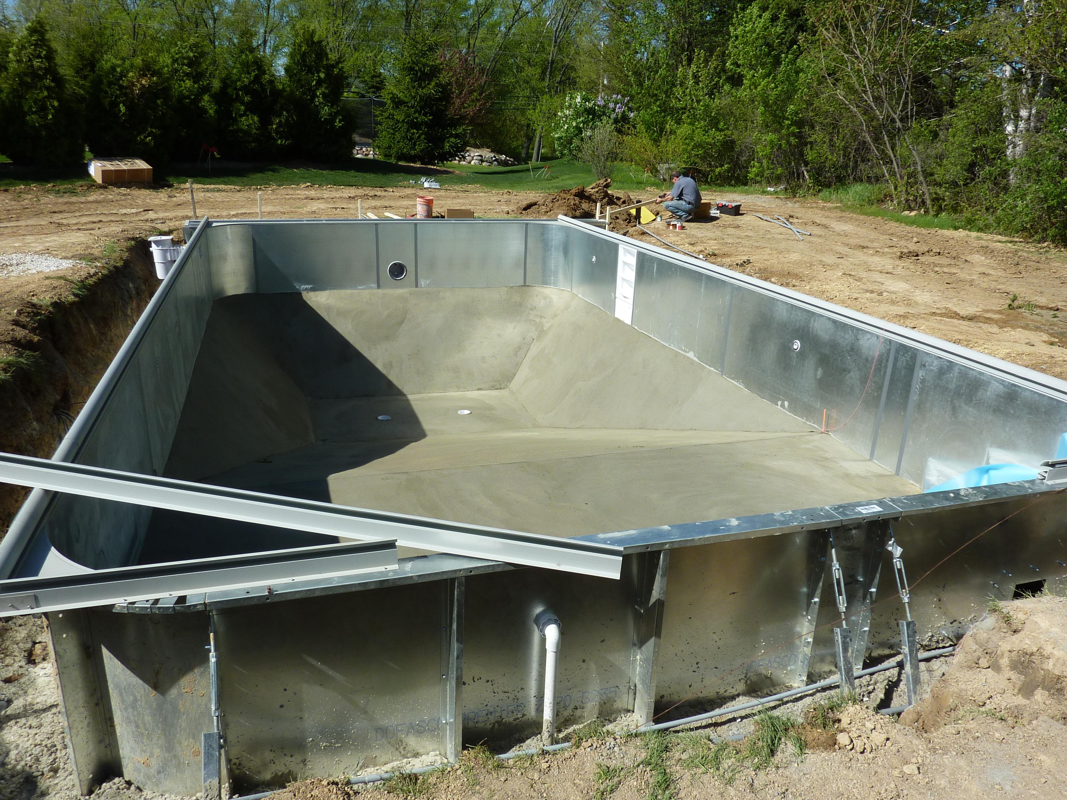 Vermiculite Pool Bottom Waukesha