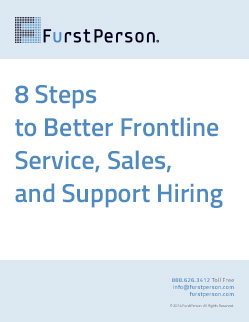 8 steps to better frontline service, sales, & Support hiring
