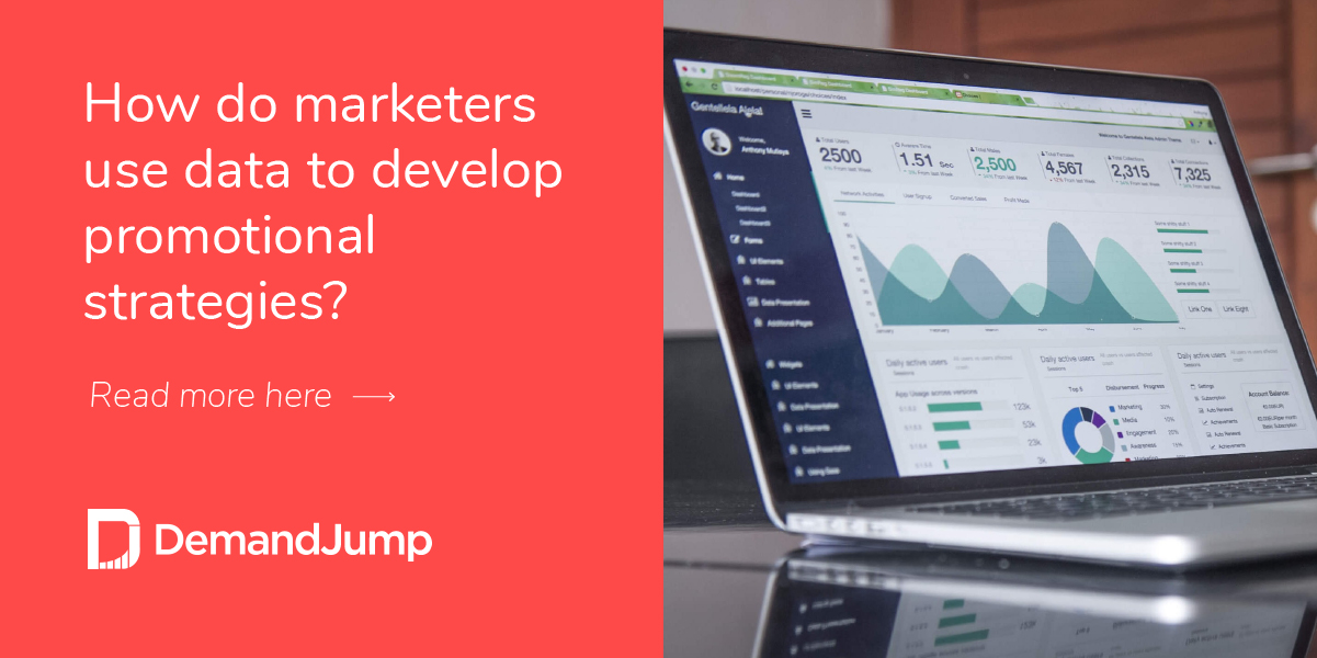 How do marketers use data to develop promotional strategies?