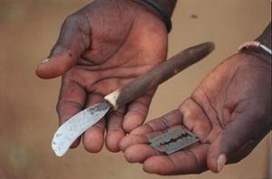 knife and razor blade