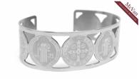 St. Benedict & Miraculous Cuff Bracelet Image