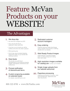 Advantages of McVan Products on Website Thumbnail