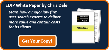 major law firm uses search experts and technology-assisted review