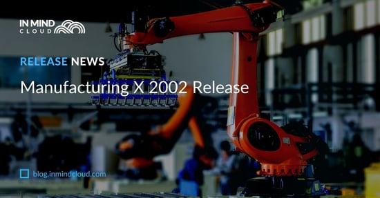 Manufacturing X Sales Platform 2002 Release