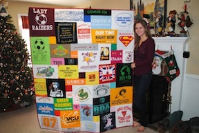 T-shirt Quilt for Christmas