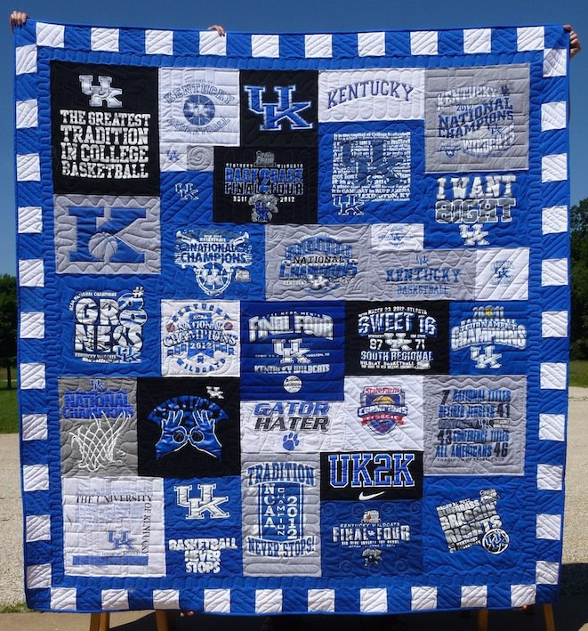Six details that make a t shirt quilt look extraordinary for How to make t shirt quilts easy