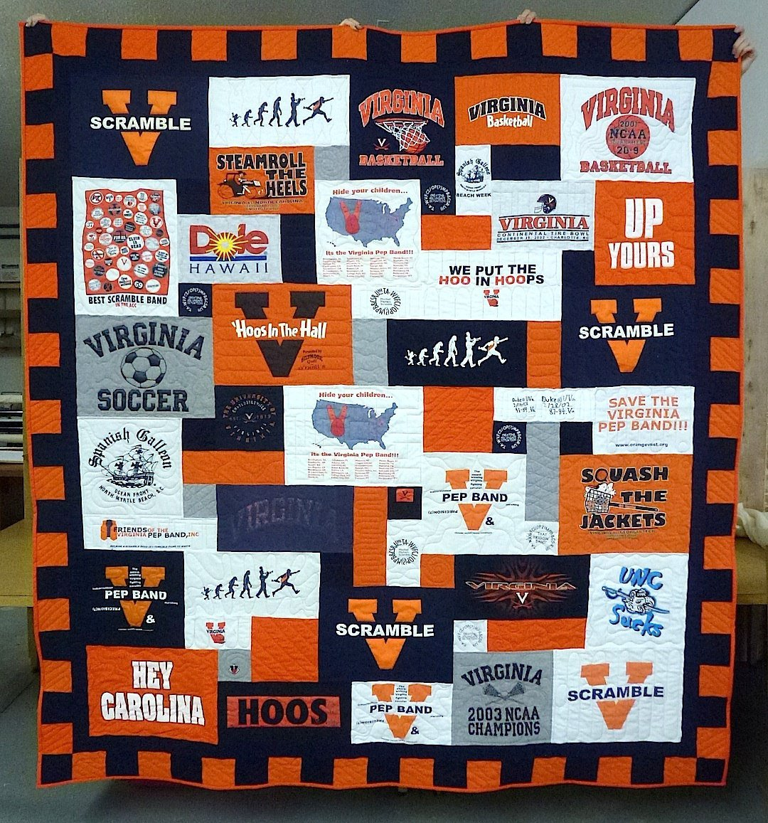 Quilting Designs For T Shirt Quilts : T-shirt Quilt Bindings and Borders
