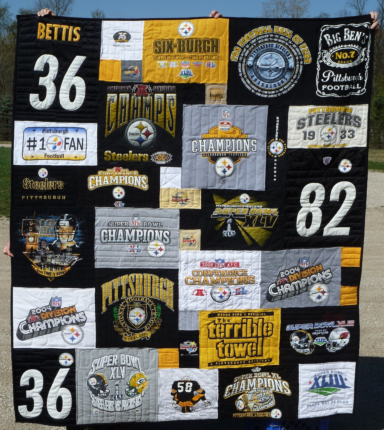 Take A T Shirt Quilt To Your Tailgating Party