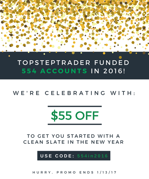 TopstepTrader Funded 554 Accounts in 2016!