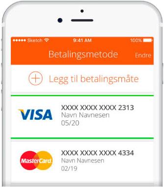 Betalingsmetoder i Payr appen