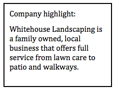 whitehouse landscaping