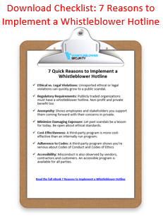 Checklist: 7 reasons to implement a whistleblower hotline