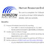 Horizon HR Checklist
