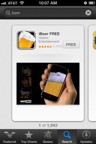 iBeer app, Whipp list of odd apps