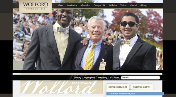 Whipp top 10 college websites, Wofford College