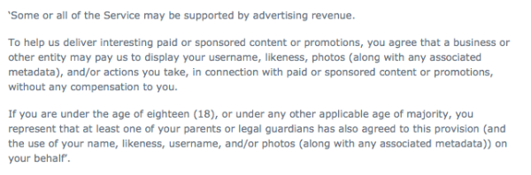 Instagram policy change, instagram