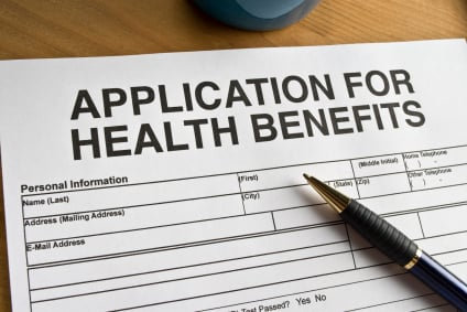 Application for health benefits