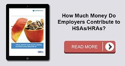 How much do employers contribute to HSAs and HRAs?