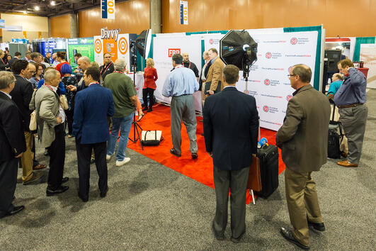 Franchise Business Review's booth at the IFA Convention exhibit hall
