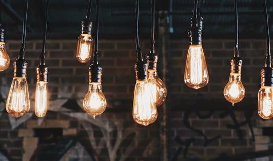 lightbulbs representing smart ideas