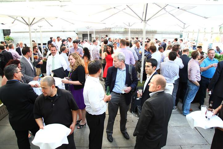 The Crowd at Our Bryant Park Happy Hour