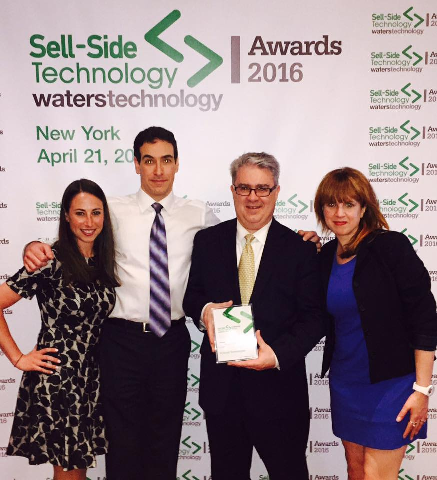 The Cloud9 Team Accepts the Sell-Side Technology Award