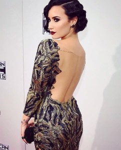 Demi Lovato AMA red carpet