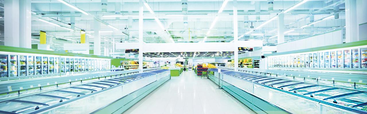 deserted supermarket