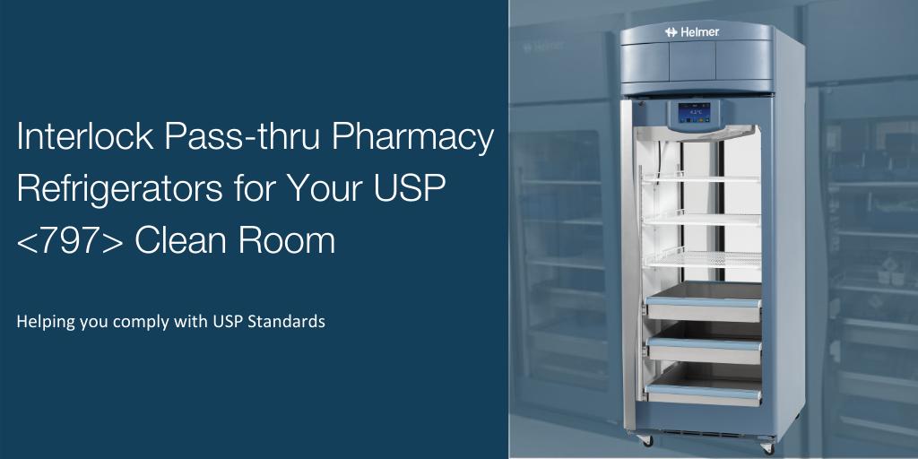 Interlock Pass-thru Pharmacy Refrigerators for Your USP <797> Clean Room