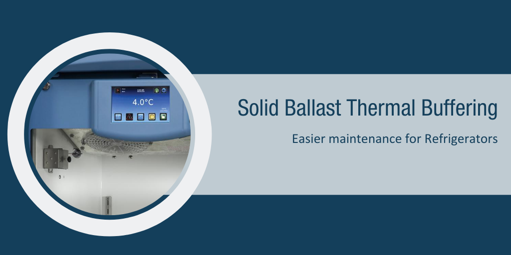 Easier Maintenance for Refrigerators and  -30°C Freezers with Optional Solid Ballast
