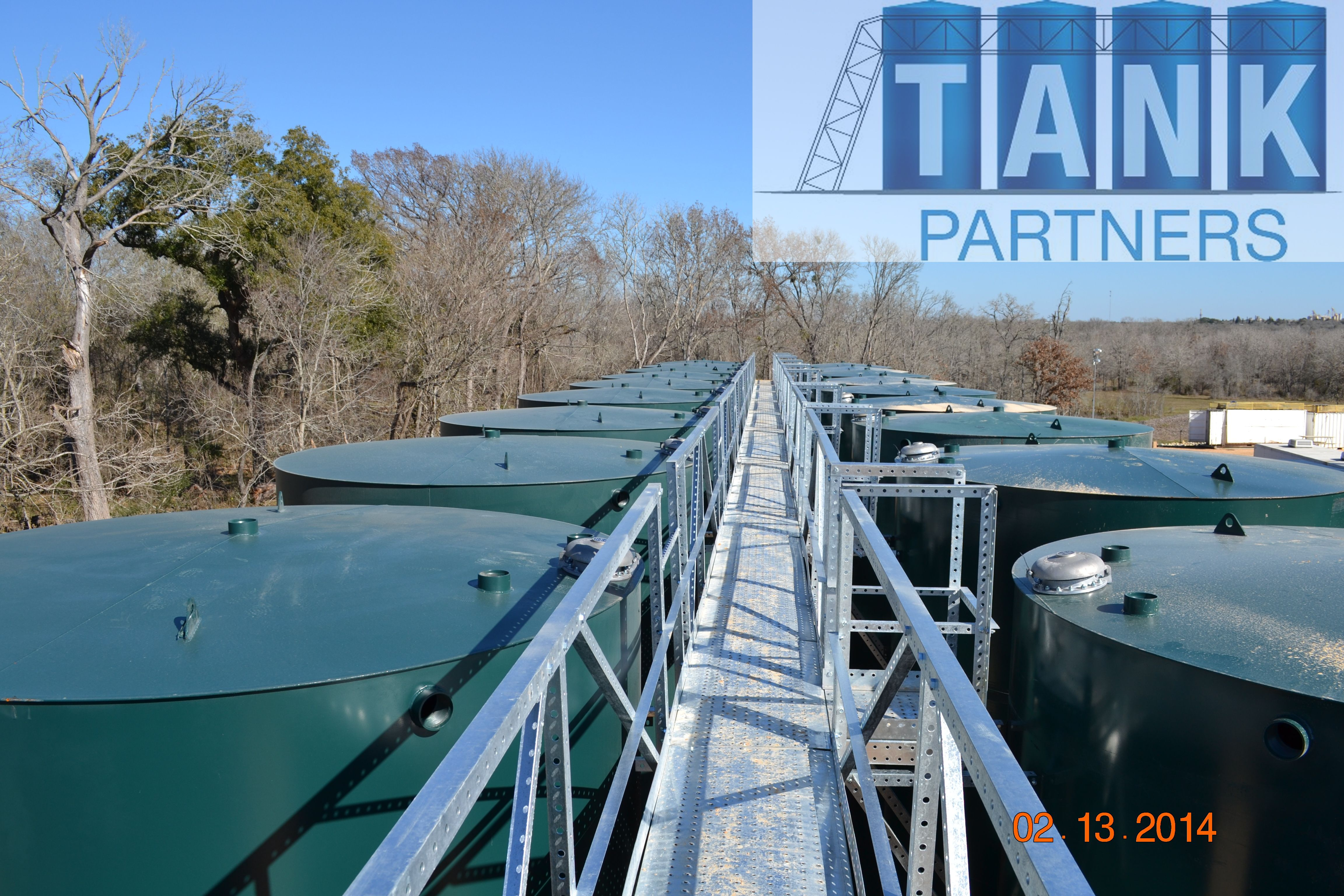 Tank Partners walkways and Go-ins allow full and safe access to all tanks in the battery