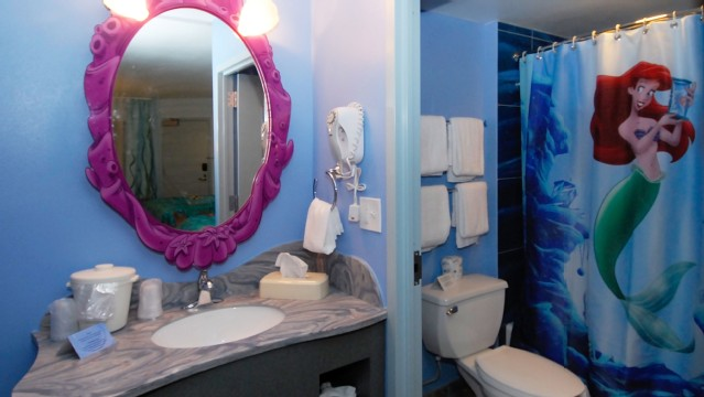 Awesome Art Of Animation Bathrooms Offer A Sink Dressing Area That Is Separated By  A Door To; Art Of Animation Little Mermaid ...
