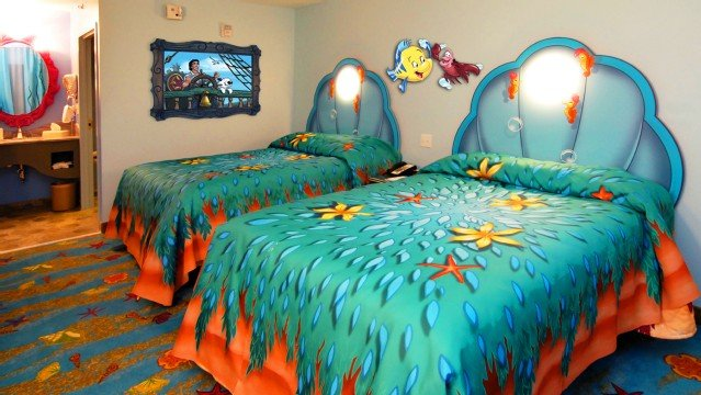 Art Of Animation Little Mermaid Standard Rooms Offer 277 Square Feet Living Space With A