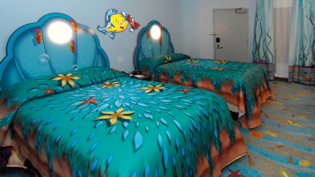 Disney Art Of Animation Little Mermaid Rooms Offer Two DOUBLE Beds With Clam Headboards That Will