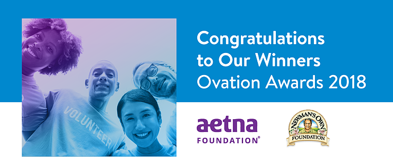 Ovation Awards Winners 2018: Aetna Foundation and Newman's Own Foundation