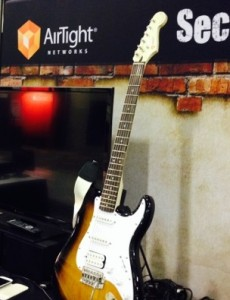 A lucky attendee walked away with an electric guitar