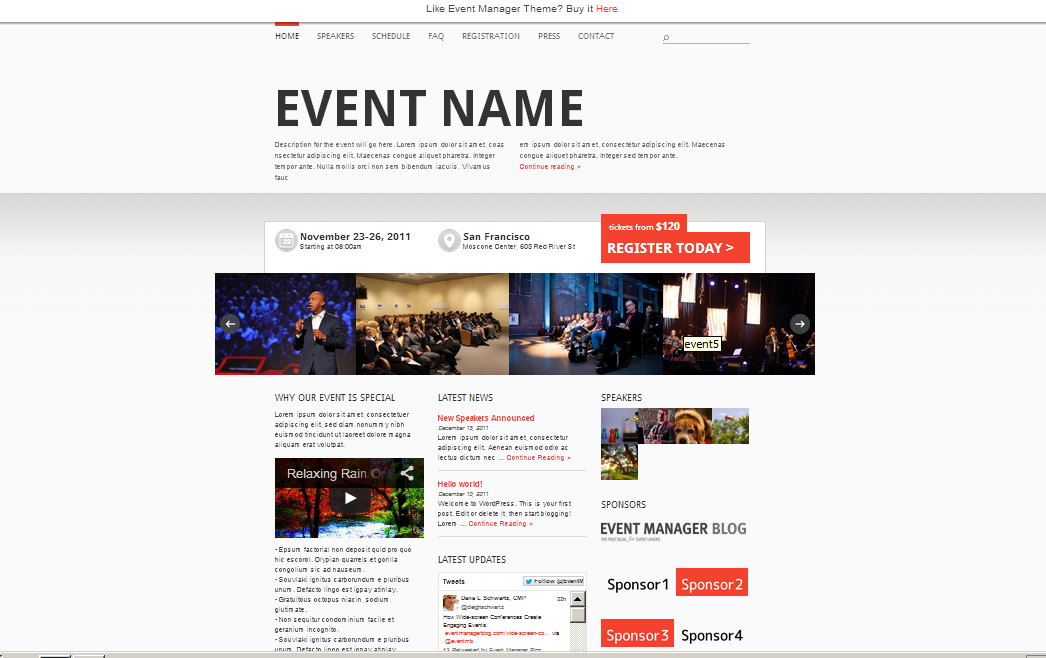 the best event website templates to pimp your next event. Black Bedroom Furniture Sets. Home Design Ideas